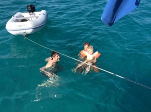 Reyer's 1ste zwemles