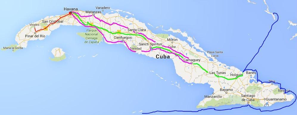 Cuba route