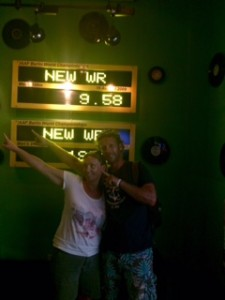 Usain Bolt's Tracks & Records bar